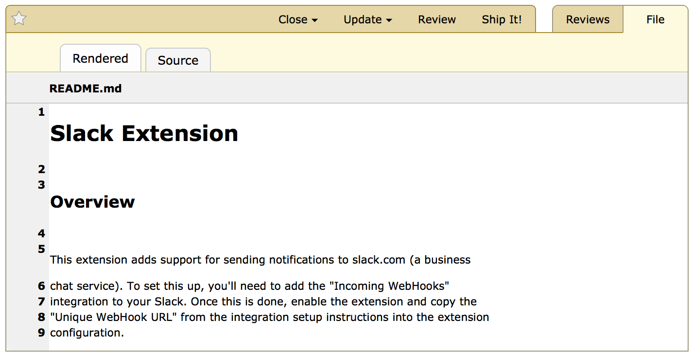Reviewing Markdown Files | Documentation | Review Board